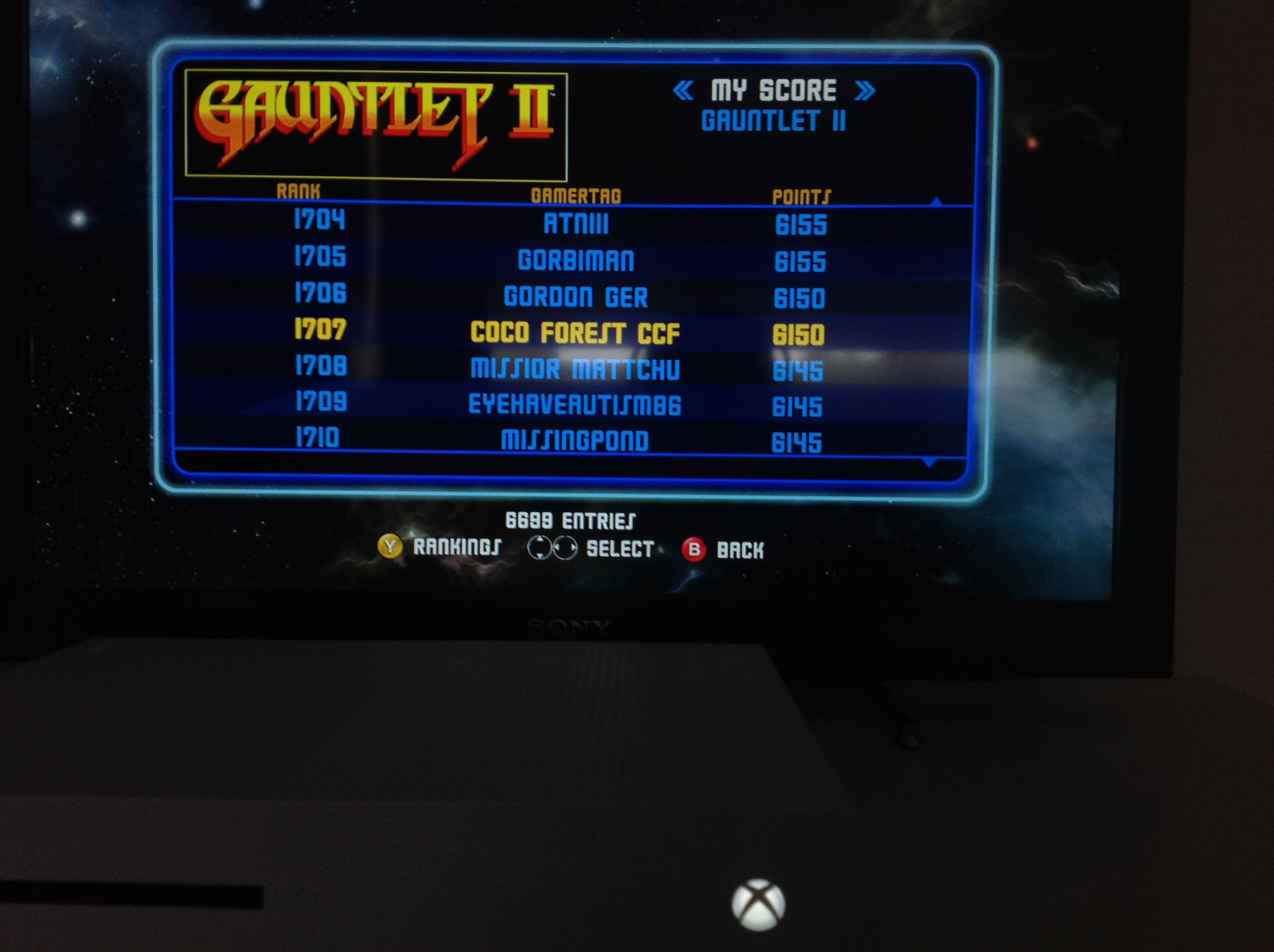 CoCoForest: Midway Arcade Origins: Gauntlet 2 [Medium] (Xbox 360) 6,150 points on 2019-05-27 01:42:31