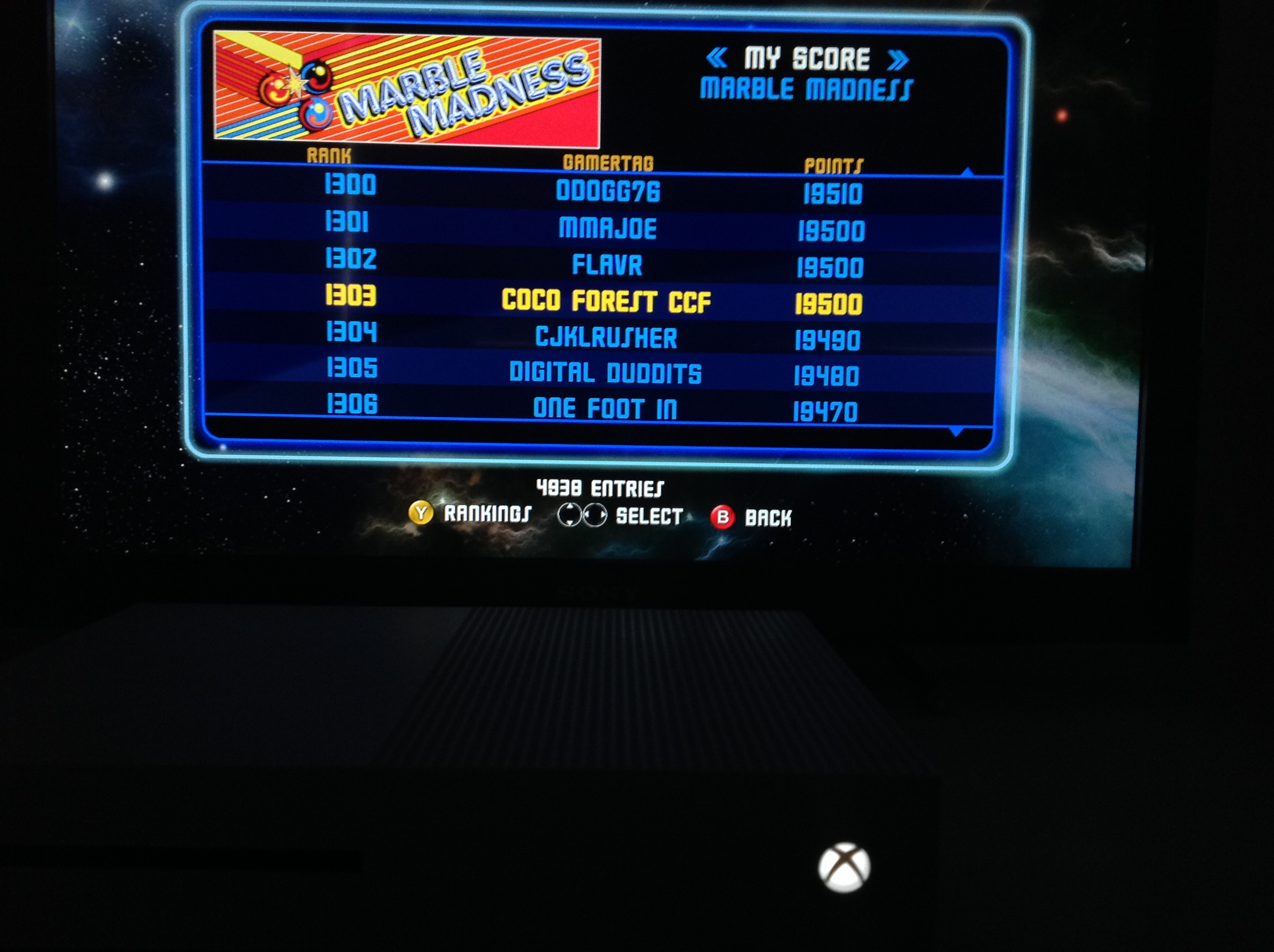 CoCoForest: Midway Arcade Origins: Marble Madness (Xbox 360) 19,500 points on 2019-05-26 14:22:20