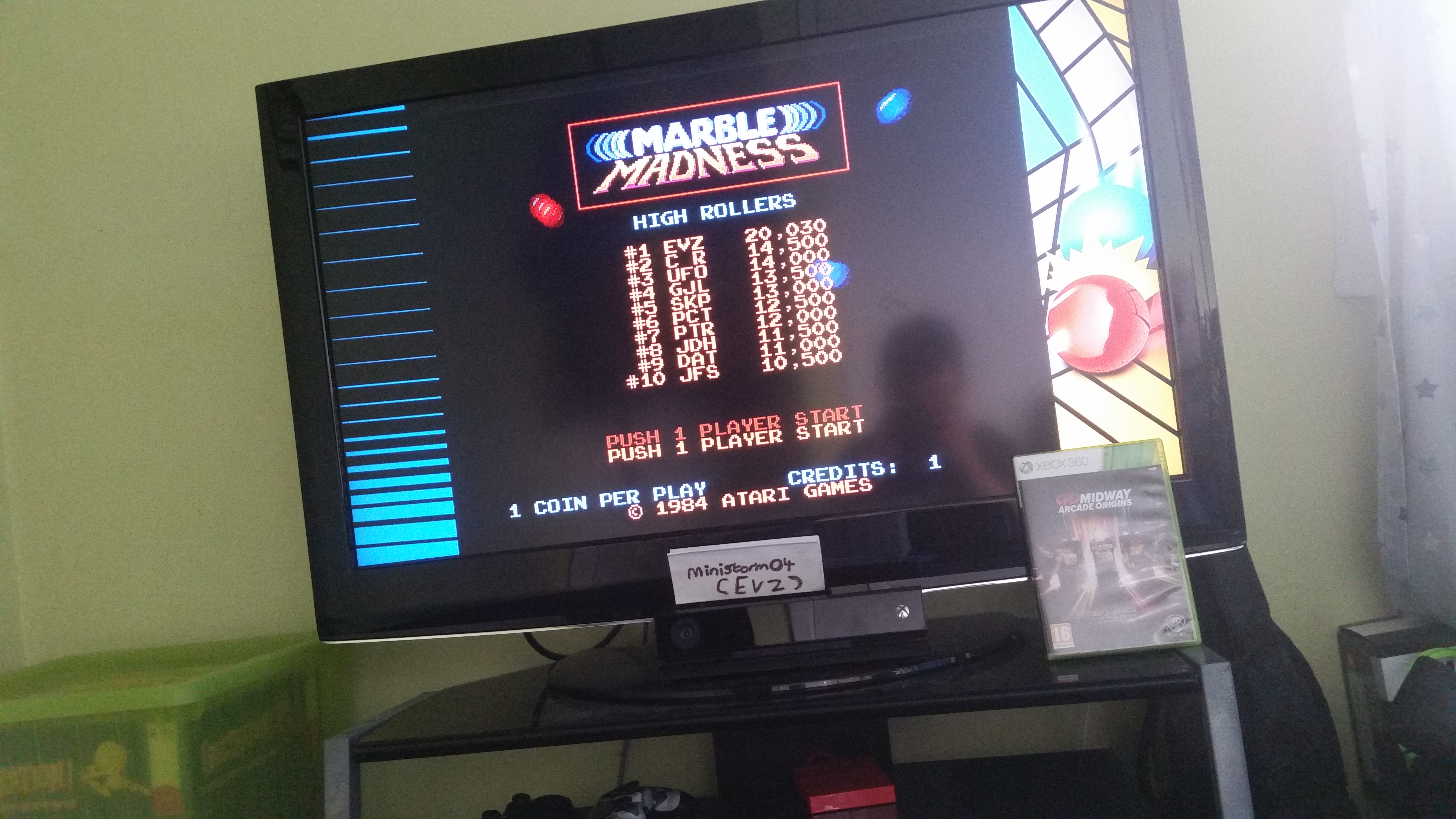 Midway Arcade Origins: Marble Madness 20,030 points