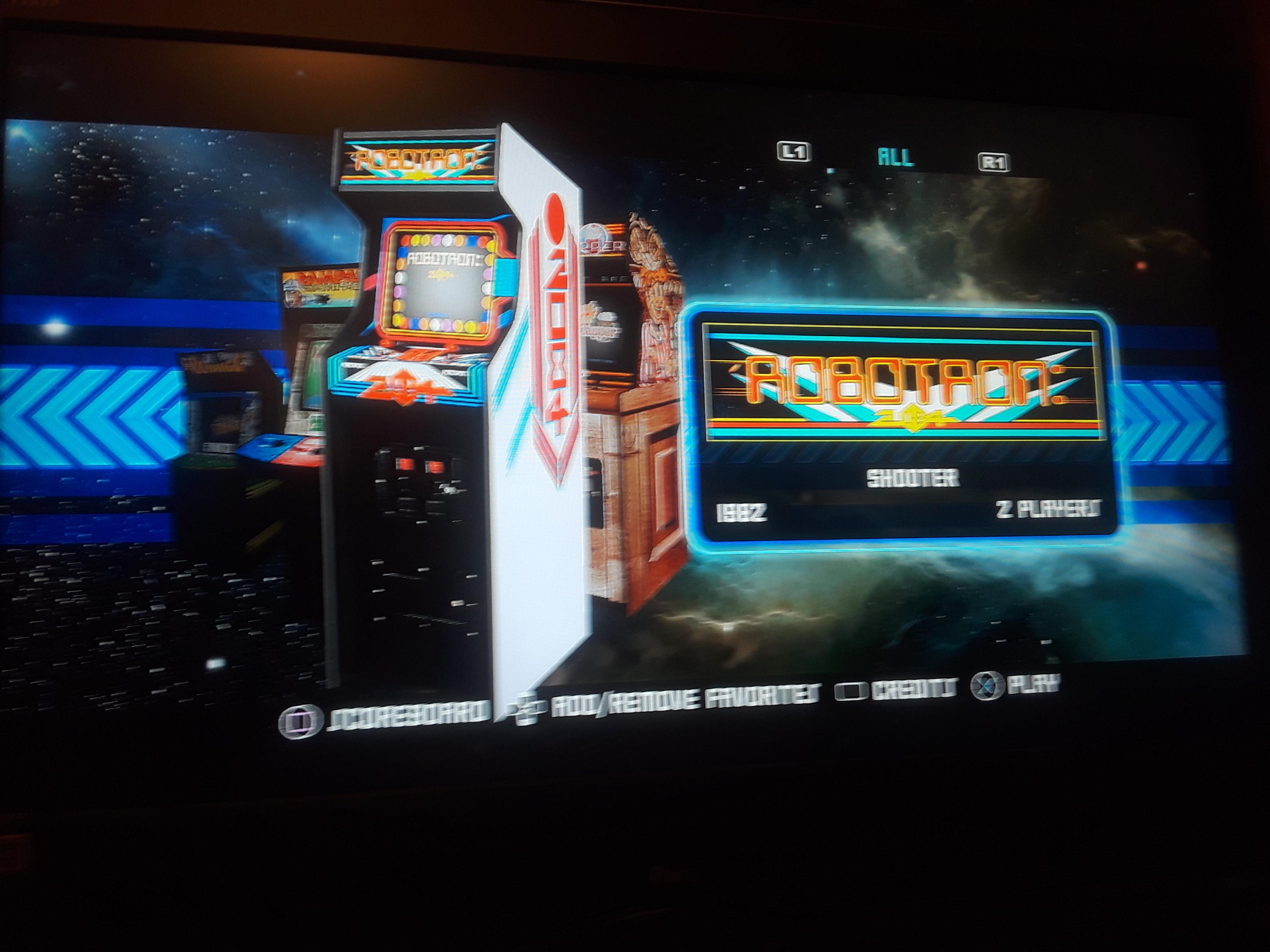 Midway Arcade Origins: Robotron 2084 23,825 points