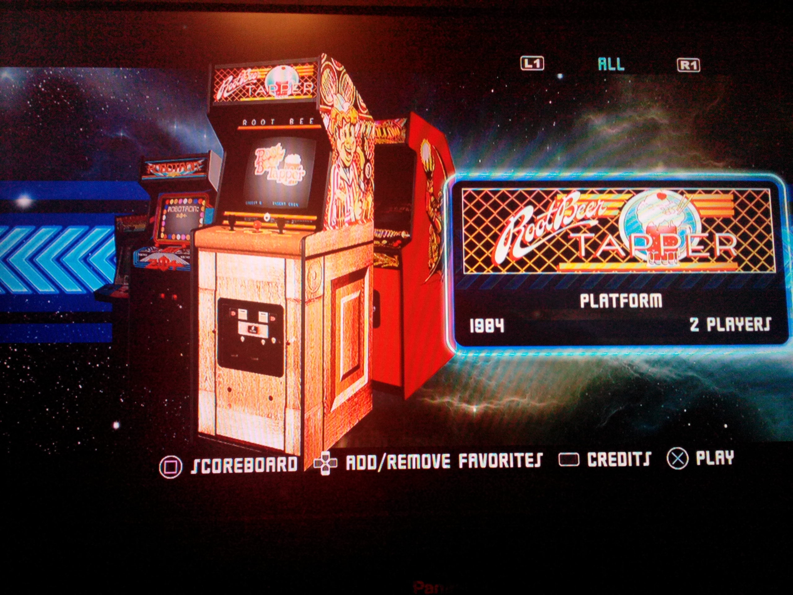 Midway Arcade Origins: Root Beer Tapper 9,650 points
