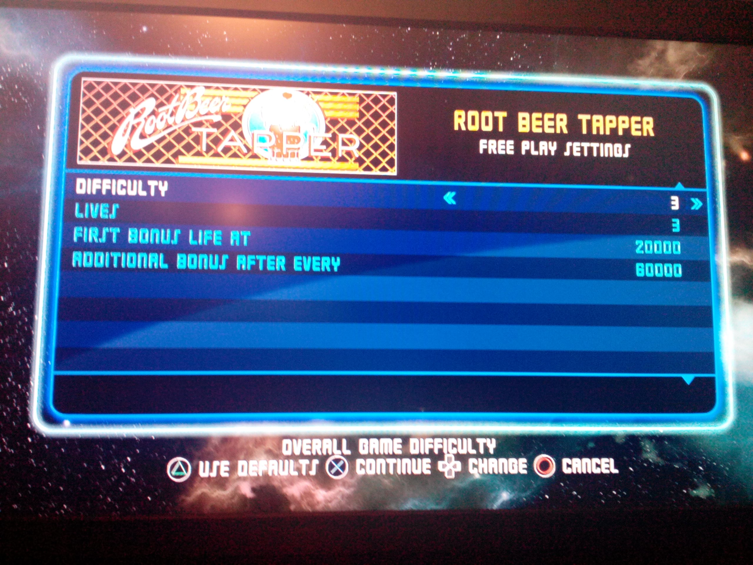 Midway Arcade Origins: Root Beer Tapper 9,650 points