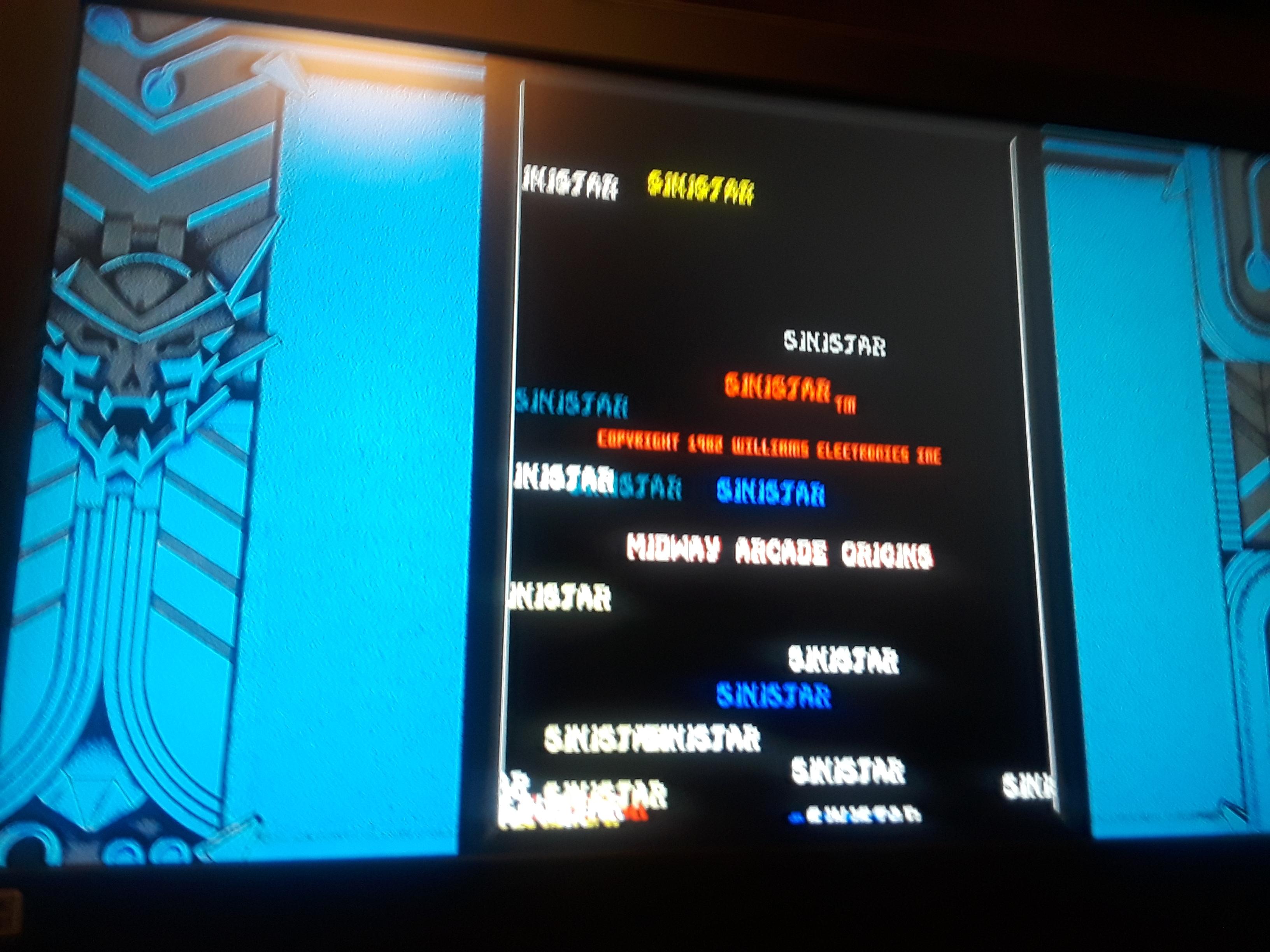 Midway Arcade Origins: Sinistar 12,450 points