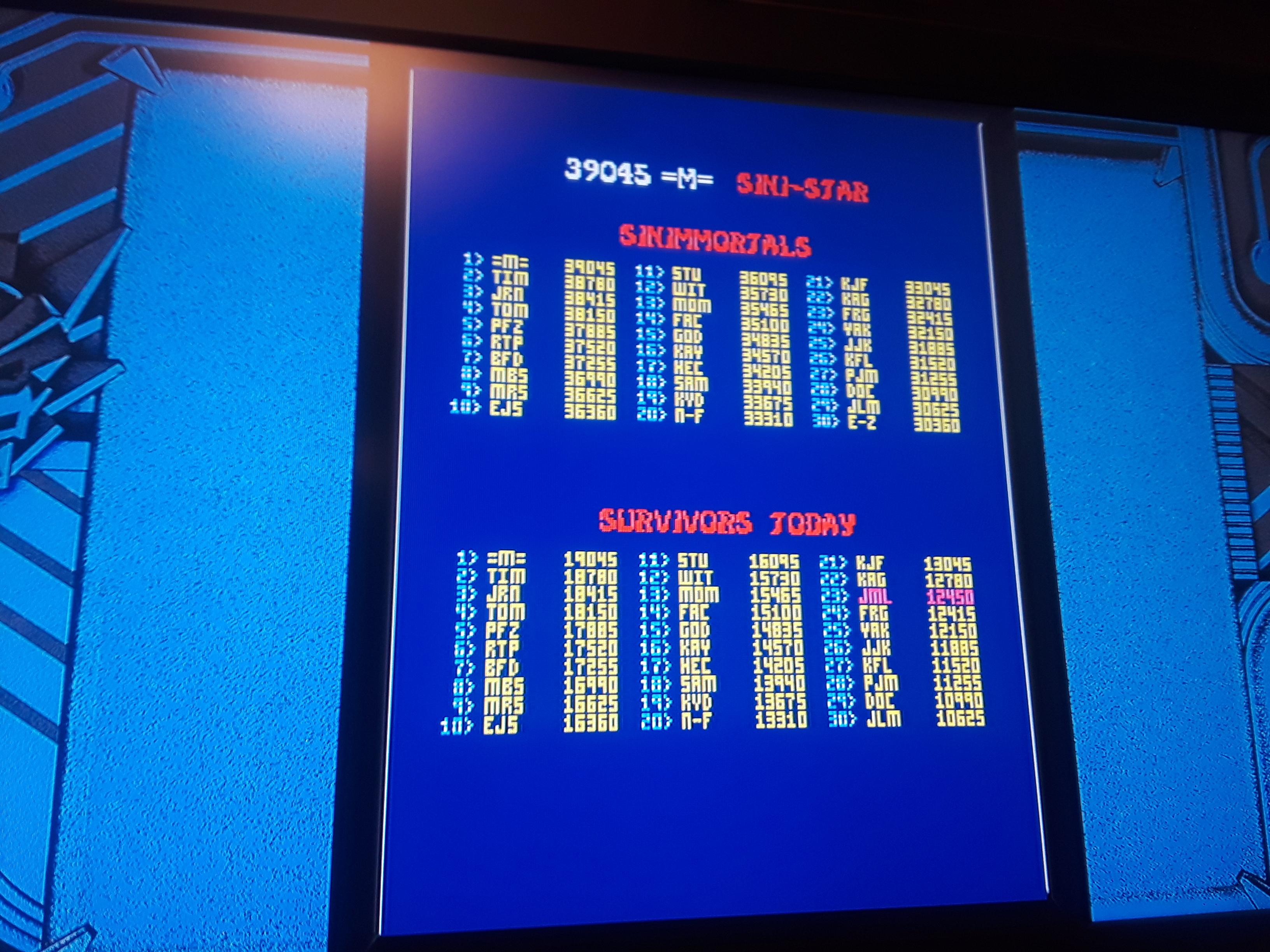 JML101582: Midway Arcade Origins: Sinistar (Playstation 3) 12,450 points on 2018-10-04 21:08:36