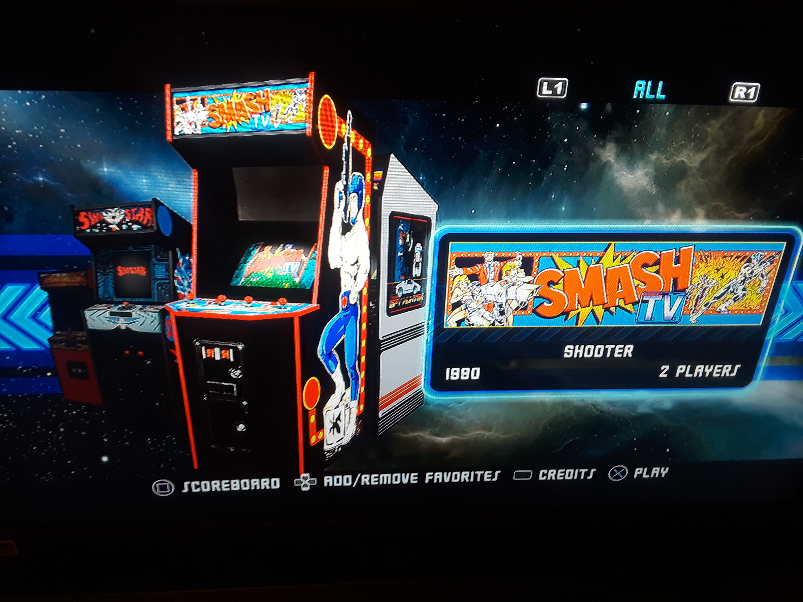 Midway Arcade Origins: Smash TV 192,330 points