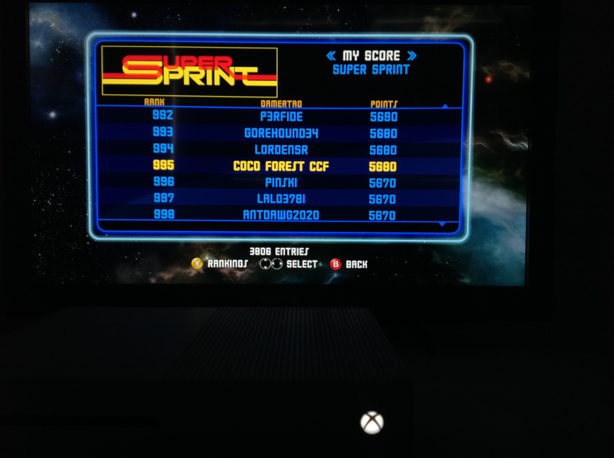 CoCoForest: Midway Arcade Origins: Super Sprint (Xbox 360) 5,680 points on 2019-05-26 14:24:49