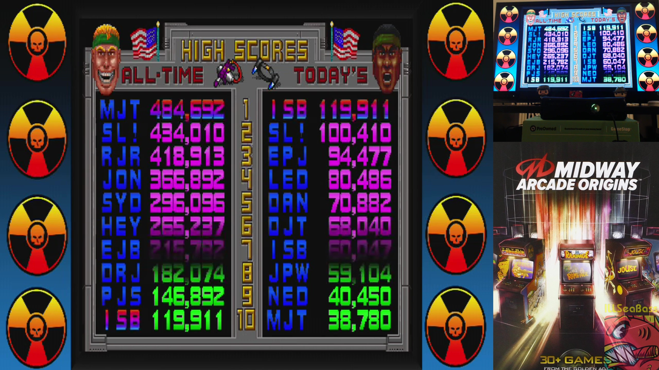 Midway Arcade Origins: Total Carnage 119,911 points