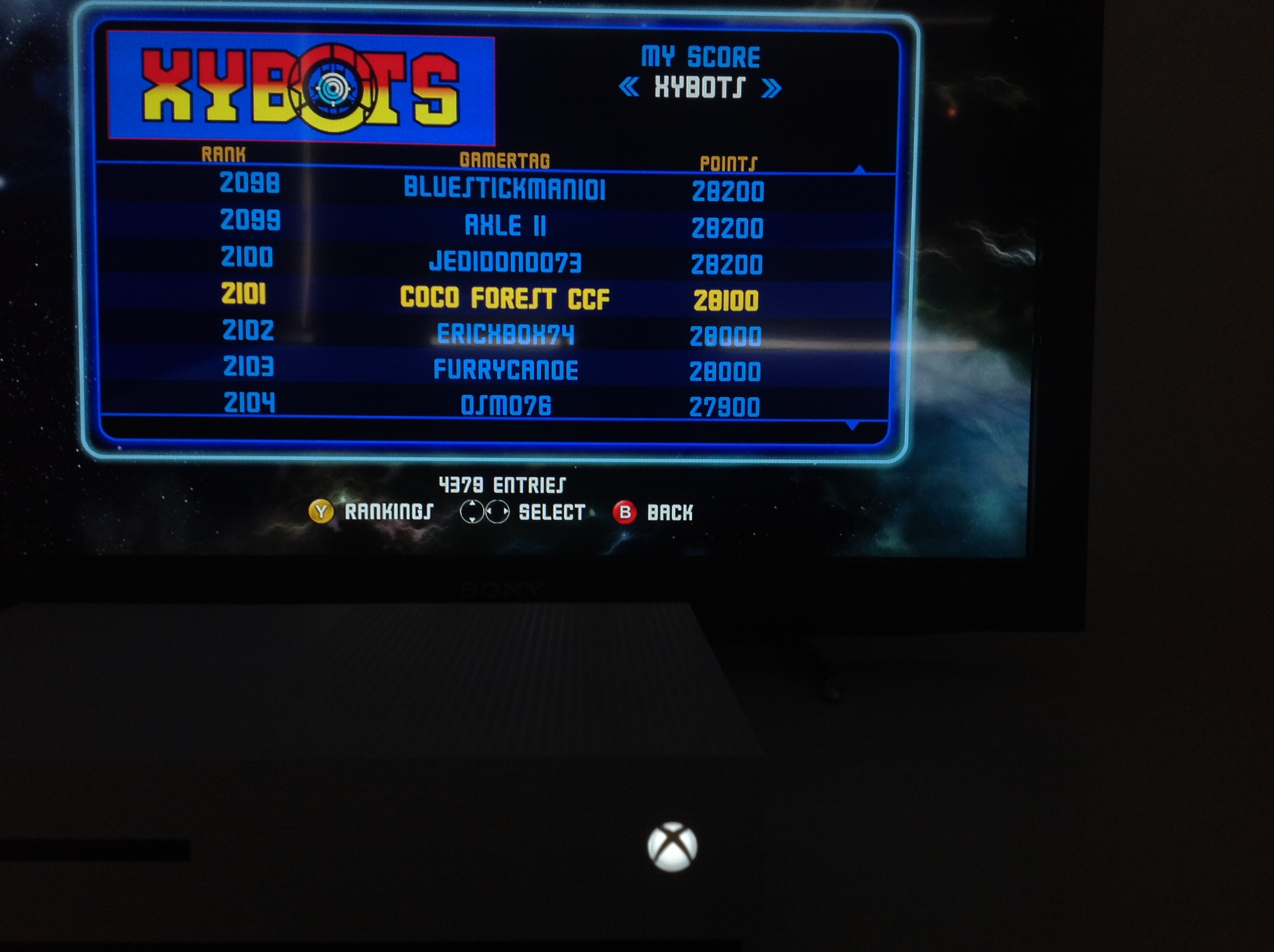 CoCoForest: Midway Arcade Origins: Xybots (Xbox 360) 28,100 points on 2019-05-26 01:43:57