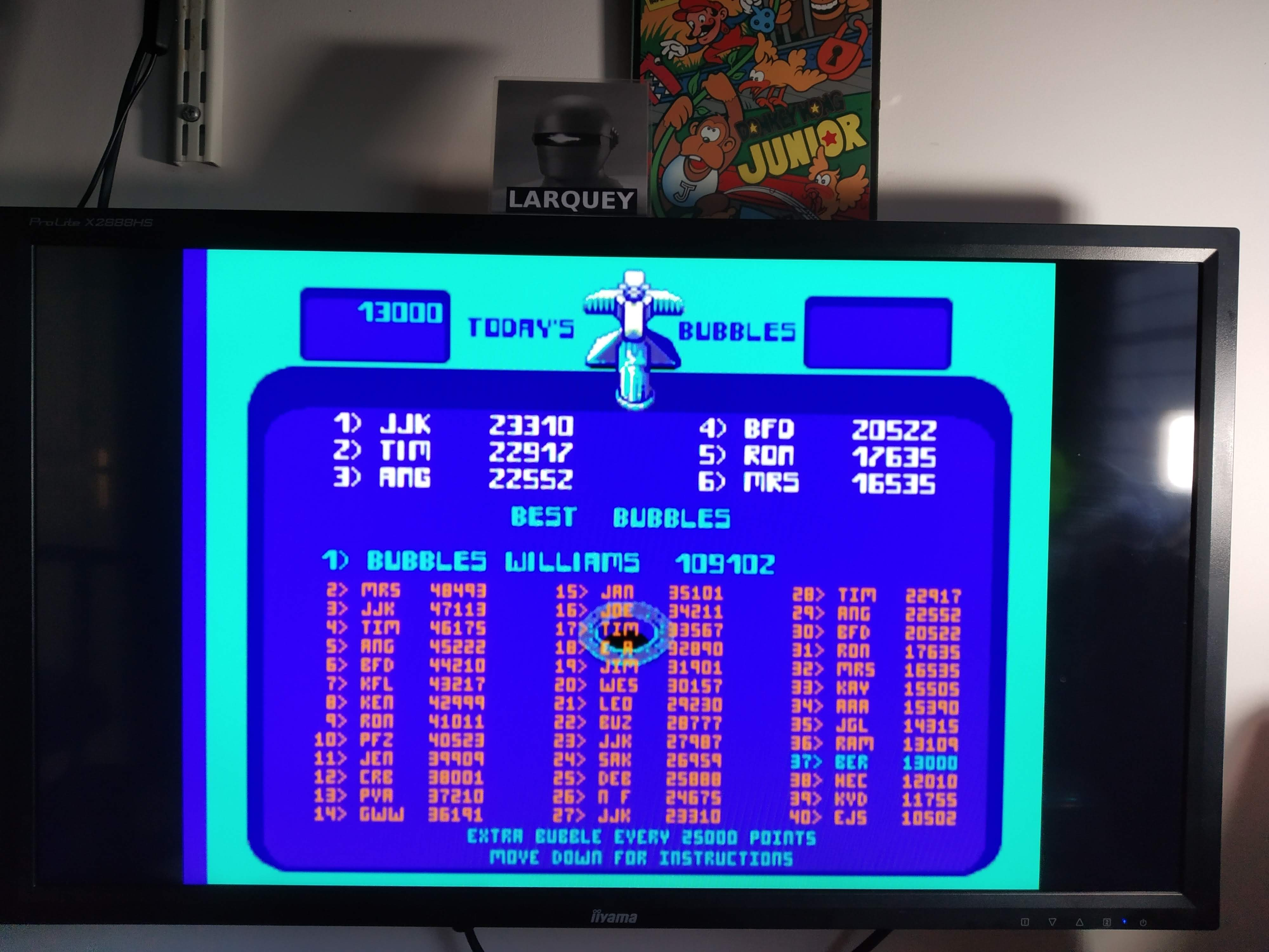 Larquey: Midway Arcade Treasures: Bubbles (Playstation 2 Emulated) 13,000 points on 2020-08-02 05:25:41