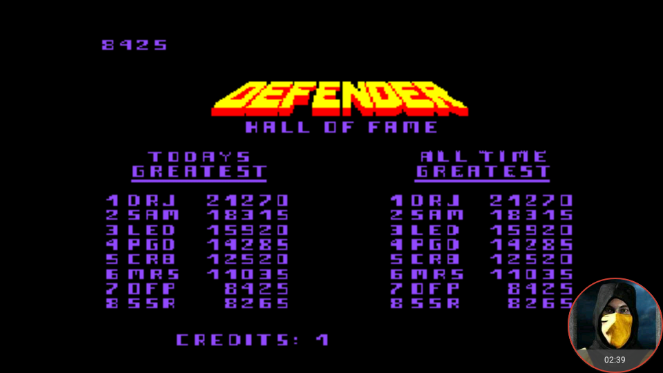 omargeddon: Midway Arcade Treasures: Extended Play: Defender (PSP Emulated) 8,425 points on 2018-05-01 23:34:37