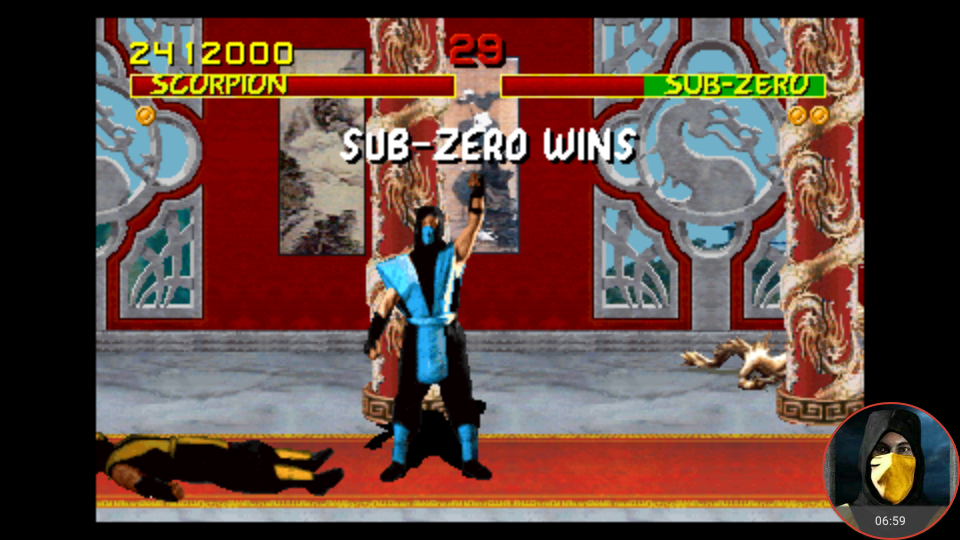 omargeddon: Midway Arcade Treasures: Extended Play: Mortal Kombat (PSP Emulated) 2,412,000 points on 2018-05-01 13:36:46