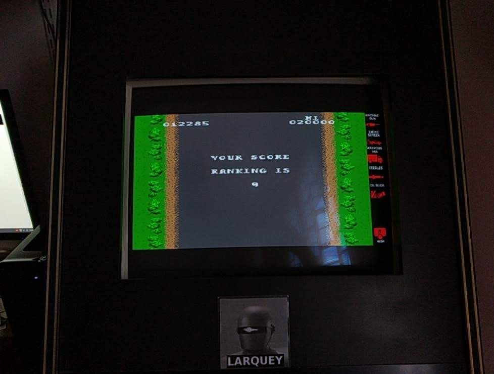 Larquey: Midway Arcade Treasures: Extended Play: Spy Hunter (PSP Emulated) 12,285 points on 2019-09-28 11:48:57
