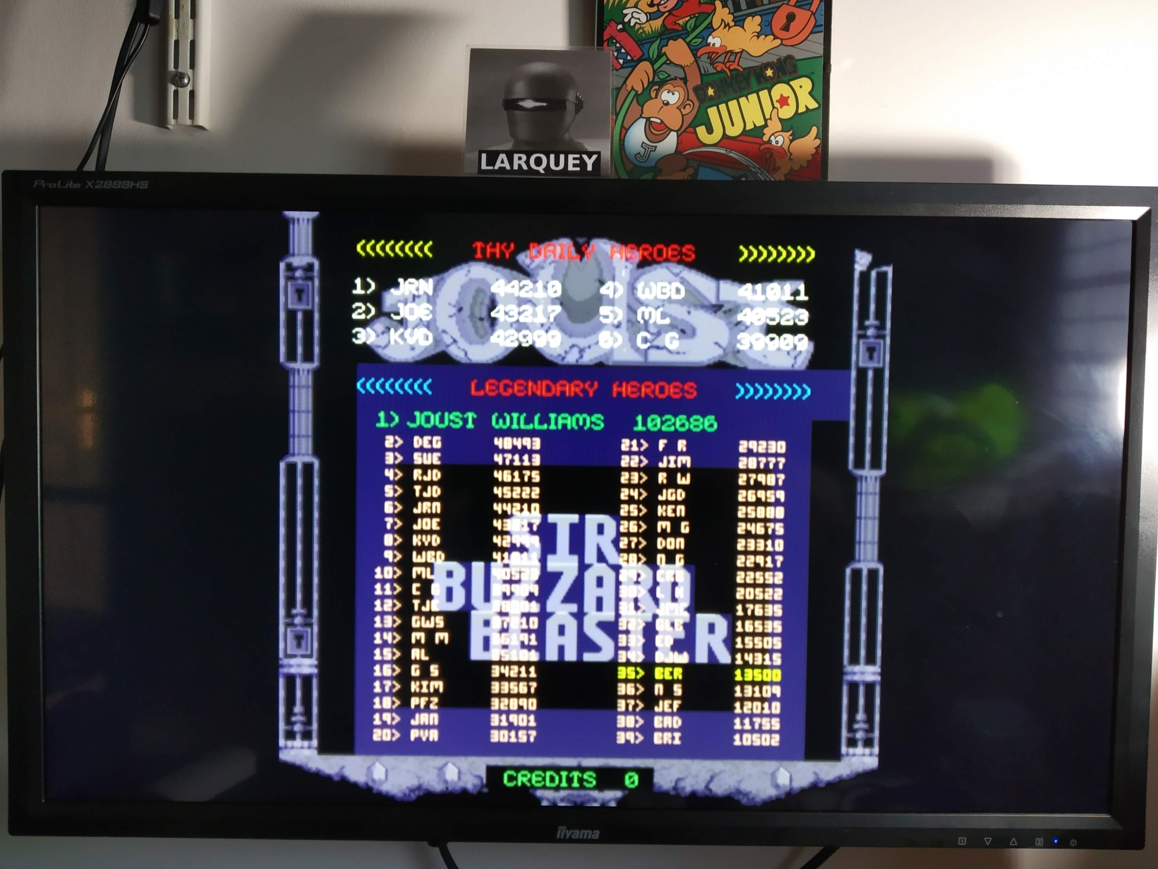 Larquey: Midway Arcade Treasures: Joust II (Playstation 2 Emulated) 13,500 points on 2020-08-02 06:46:37