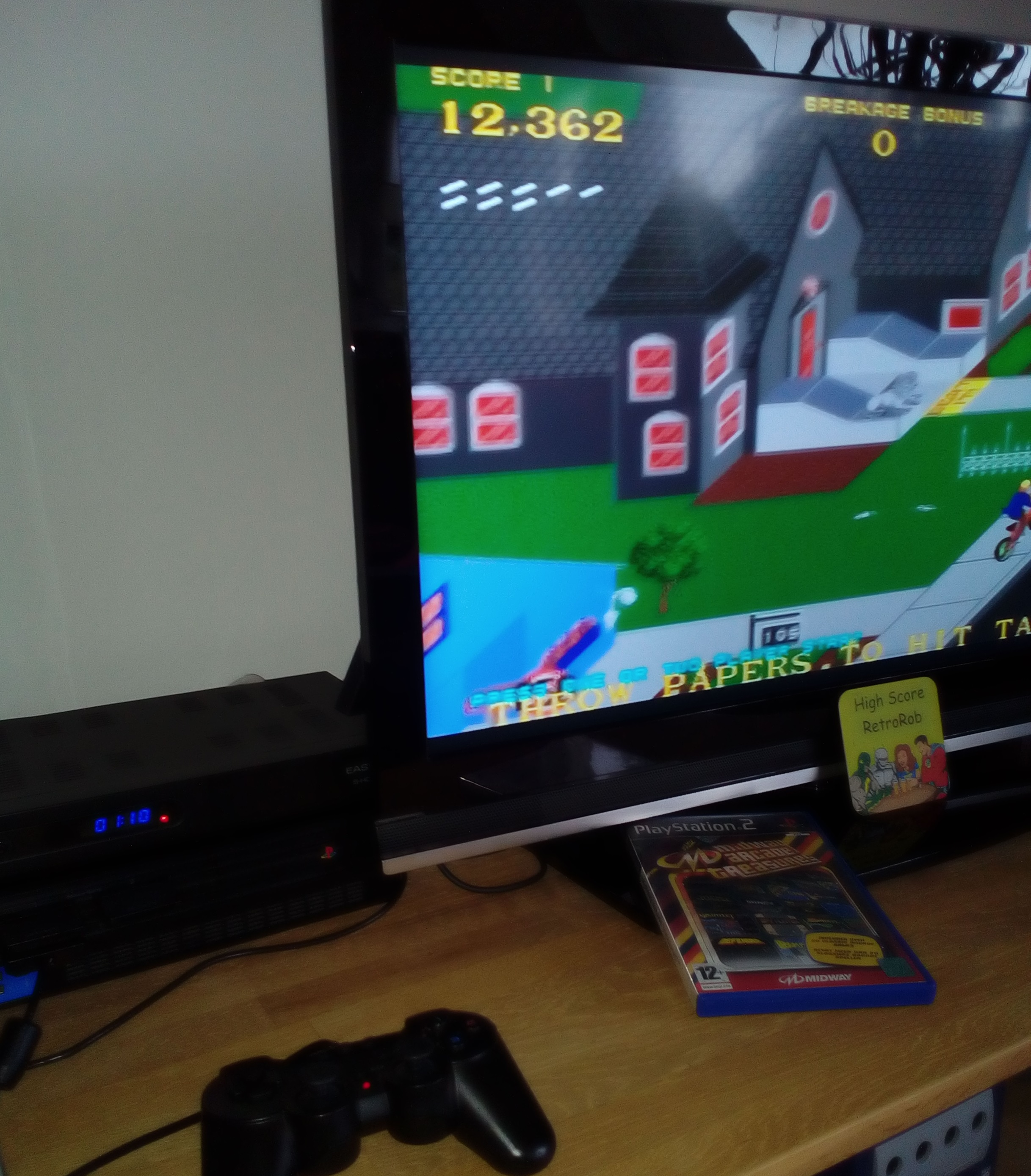 Midway Arcade Treasures: Paperboy 12,362 points