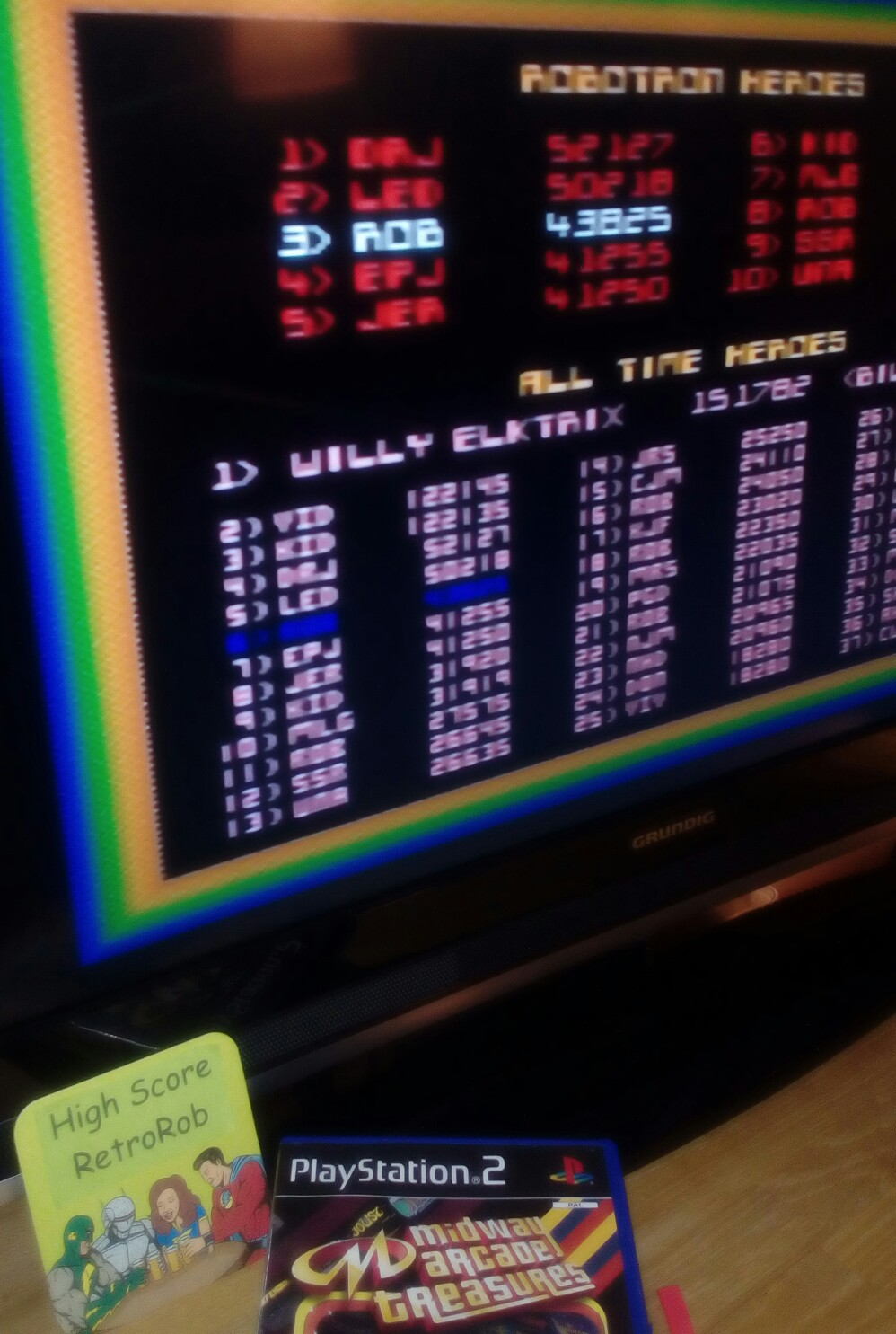 RetroRob: Midway Arcade Treasures: Robotron 2084 (Playstation 2) 43,825 points on 2018-09-03 15:01:37