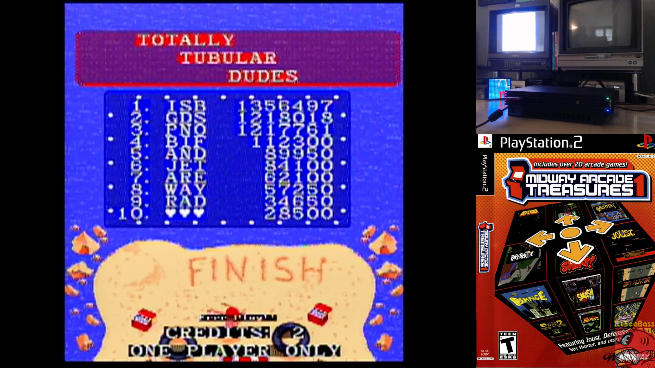 ILLSeaBass: Midway Arcade Treasures: Toobin (Playstation 2) 1,356,497 points on 2019-06-17 21:23:03