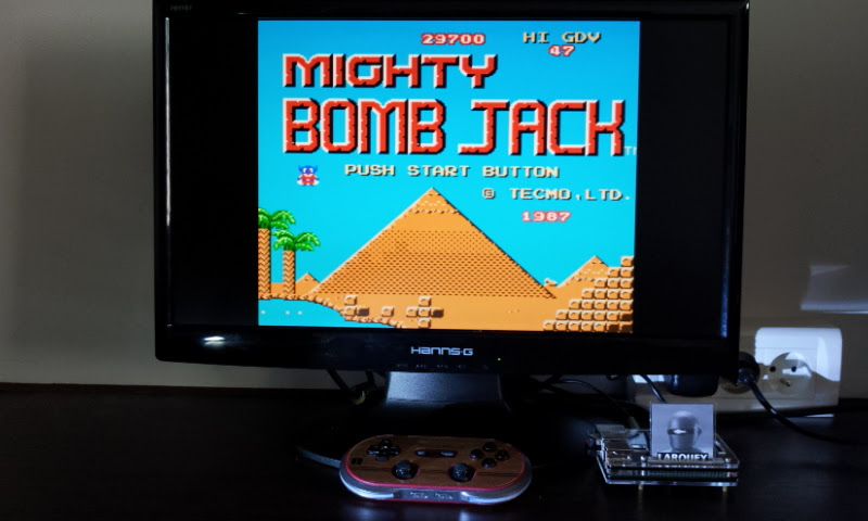Larquey: Mighty Bomb Jack (NES/Famicom Emulated) 29,700 points on 2017-07-28 09:38:43