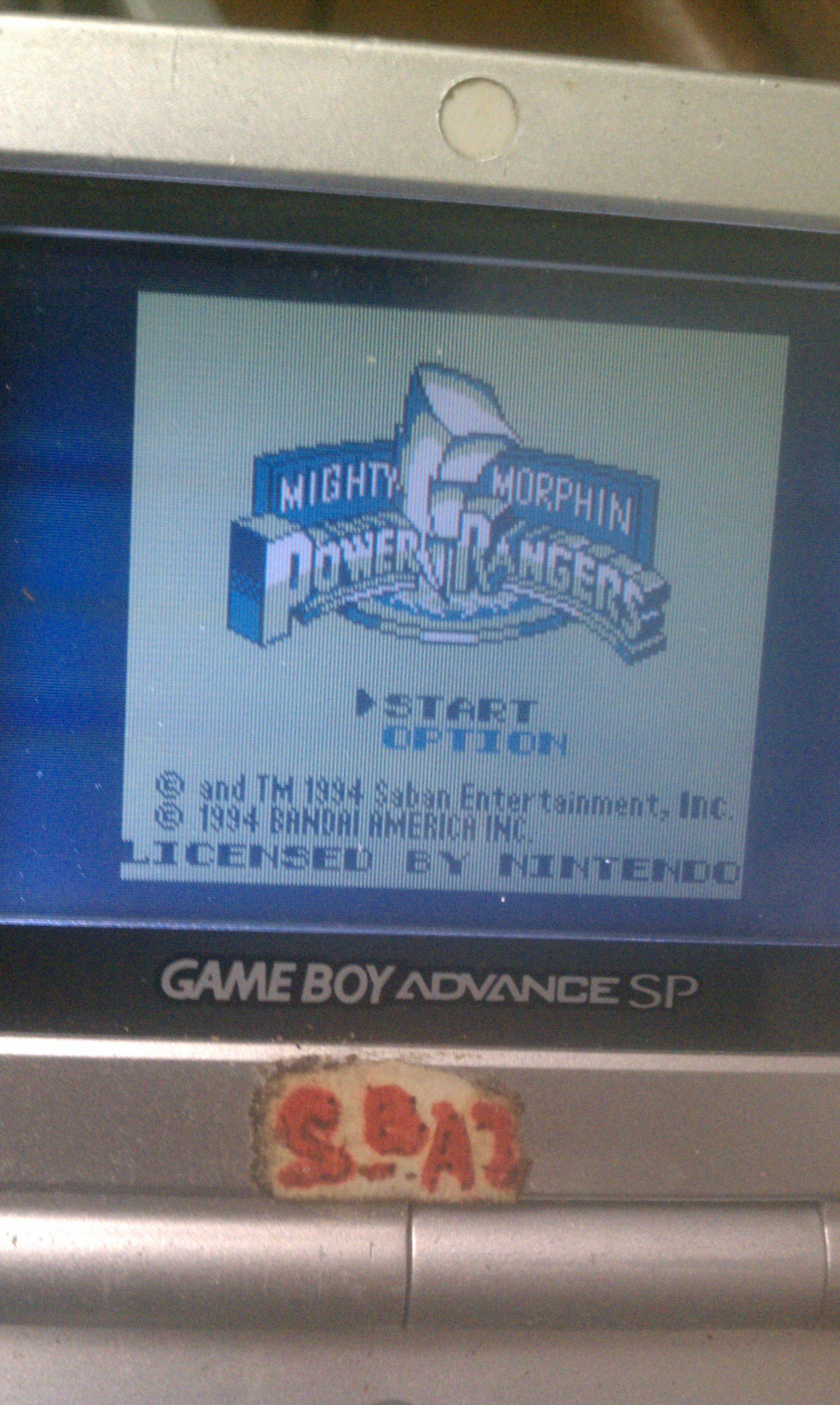 BAZ: Mighty Morphin Power Rangers [Normal] (Game Boy) 2,450 points on 2020-01-18 14:42:57