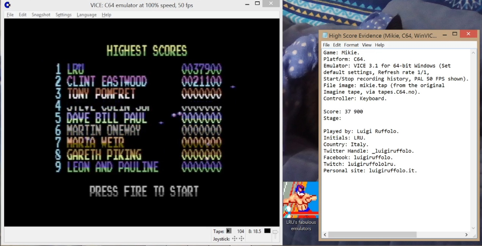 LuigiRuffolo: Mikie (Commodore 64 Emulated) 37,900 points on 2020-07-05 09:54:46