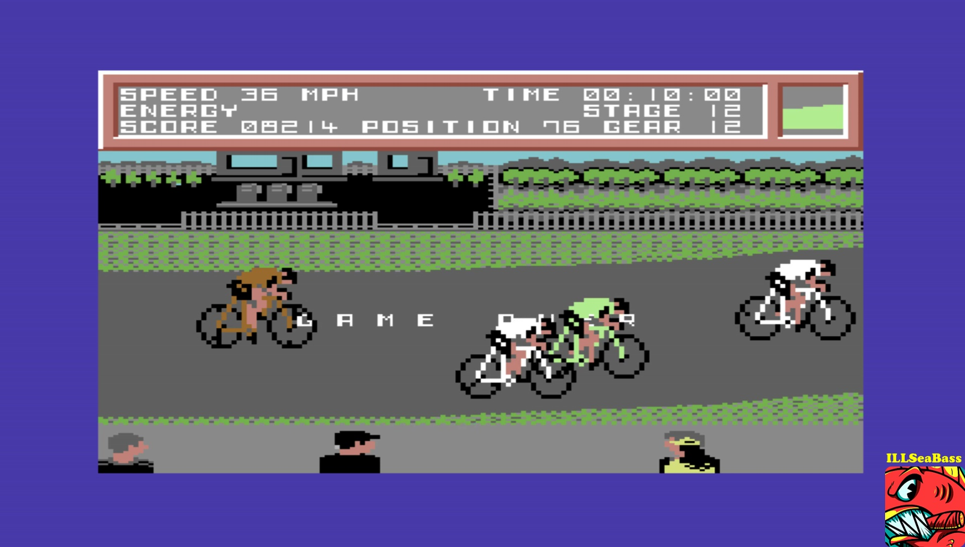 ILLSeaBass: Milk Race (Commodore 64 Emulated) 8,214 points on 2017-04-10 13:28:19