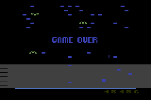 GAMES: Millipede (Atari 2600 Novice/B) 45,456 points on 2019-12-29 08:42:37
