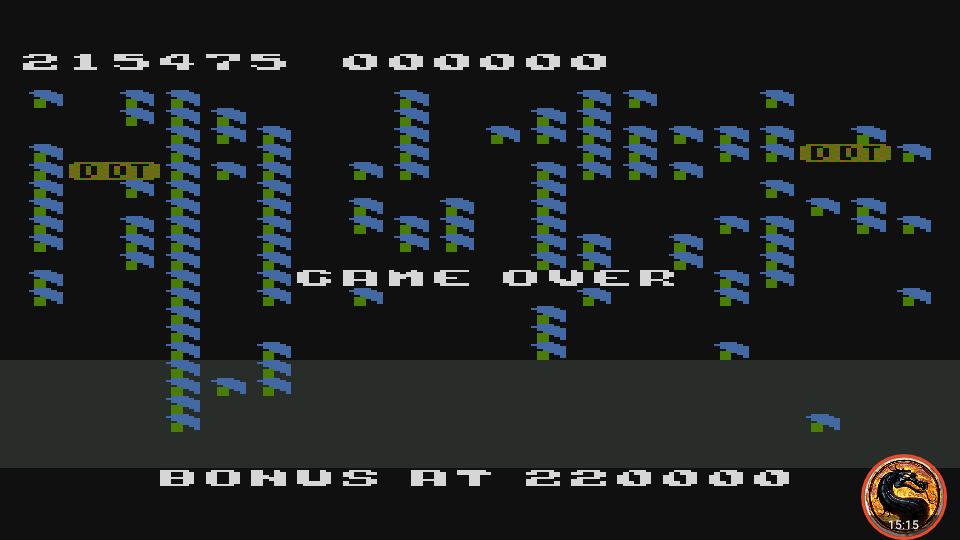 omargeddon: Millipede (Atari 400/800/XL/XE Emulated) 215,475 points on 2019-05-20 08:23:29