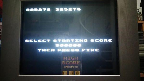 BabofetH: Millipede (Atari 400/800/XL/XE) 325,276 points on 2020-07-20 17:13:08