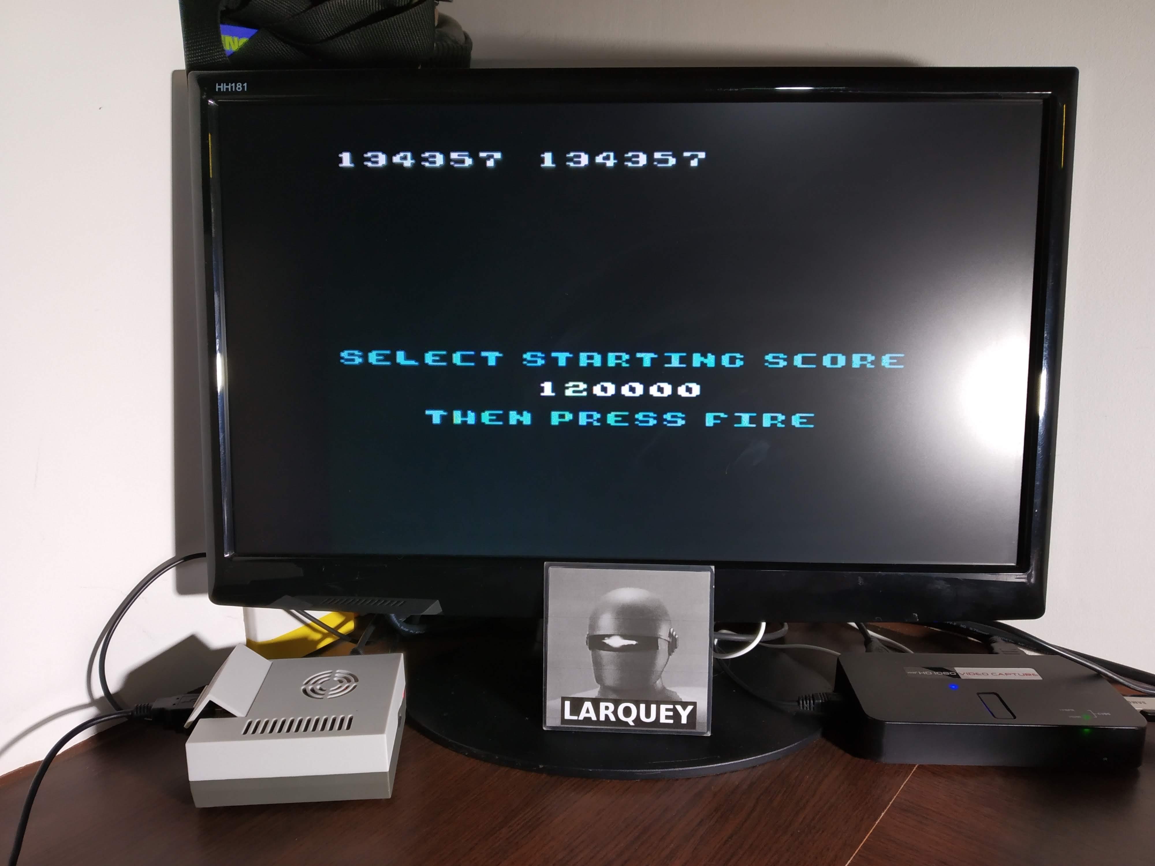 Larquey: Millipede (Atari 5200 Emulated) 134,357 points on 2019-11-09 13:57:45