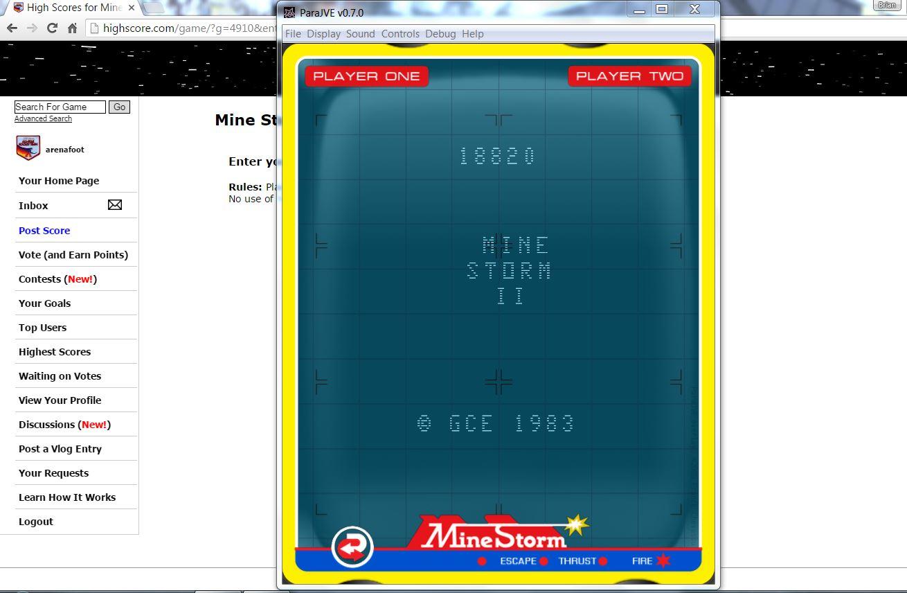 Mine Storm 2 18,820 points