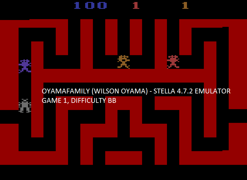 oyamafamily: Mines of Minos (Atari 2600 Emulated Novice/B Mode) 100 points on 2017-02-07 18:59:41