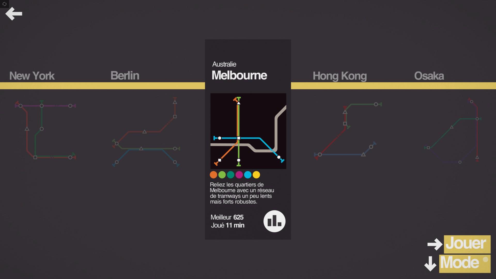 Mantalow: Mini Metro [Melbourne] (PC) 625 points on 2015-12-06 23:38:11