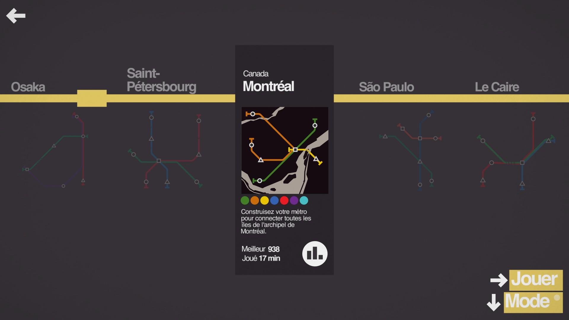 Mantalow: Mini Metro [Montréal] (PC) 938 points on 2015-09-30 13:13:23