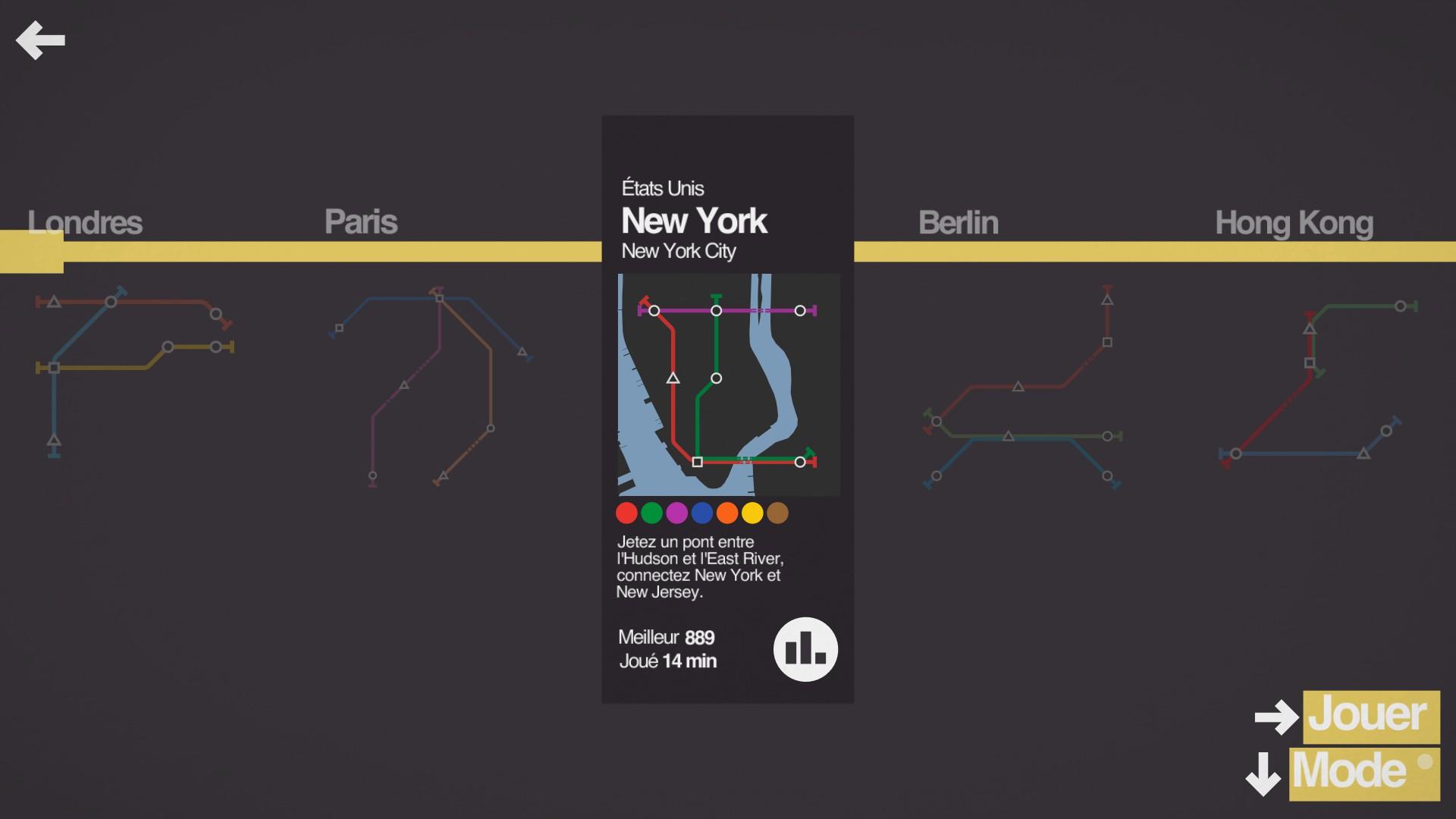 Mantalow: Mini Metro [New York] (PC) 889 points on 2015-09-30 13:09:10
