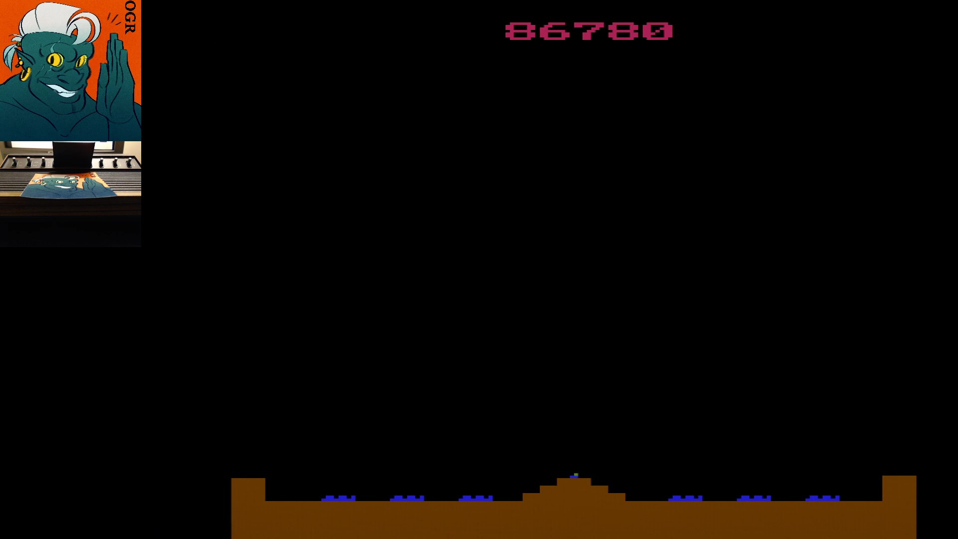 AwesomeOgre: Missile Command (Atari 2600 Expert/A) 86,780 points on 2020-05-01 01:39:15