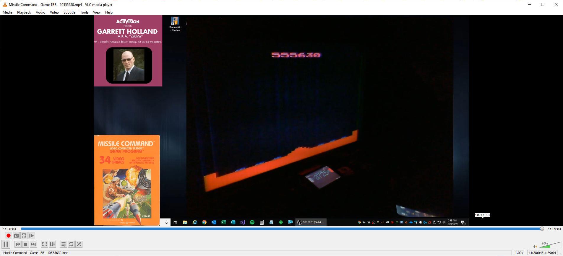 ZilchSr: Missile Command (Atari 2600 Novice/B) 10,555,630 points on 2019-08-08 20:50:26