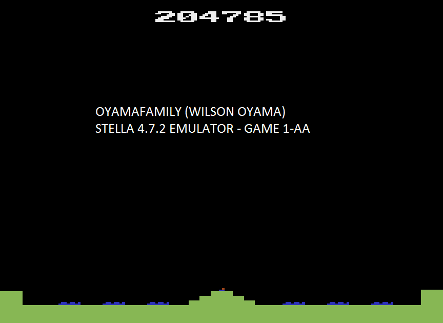 oyamafamily: Missile Command (Atari 2600 Emulated Expert/A Mode) 204,785 points on 2016-06-12 13:50:13
