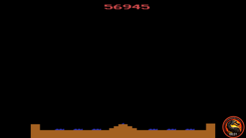 omargeddon: Missile Command (Atari 2600 Emulated Expert/A Mode) 56,945 points on 2020-06-21 11:29:01