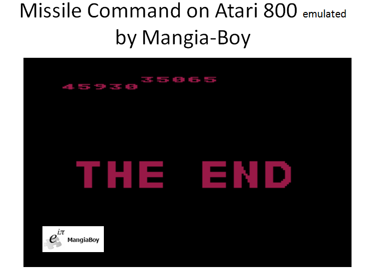 MangiaBoy: Missile Command (Atari 400/800/XL/XE Emulated) 45,930 points on 2016-12-29 15:47:11