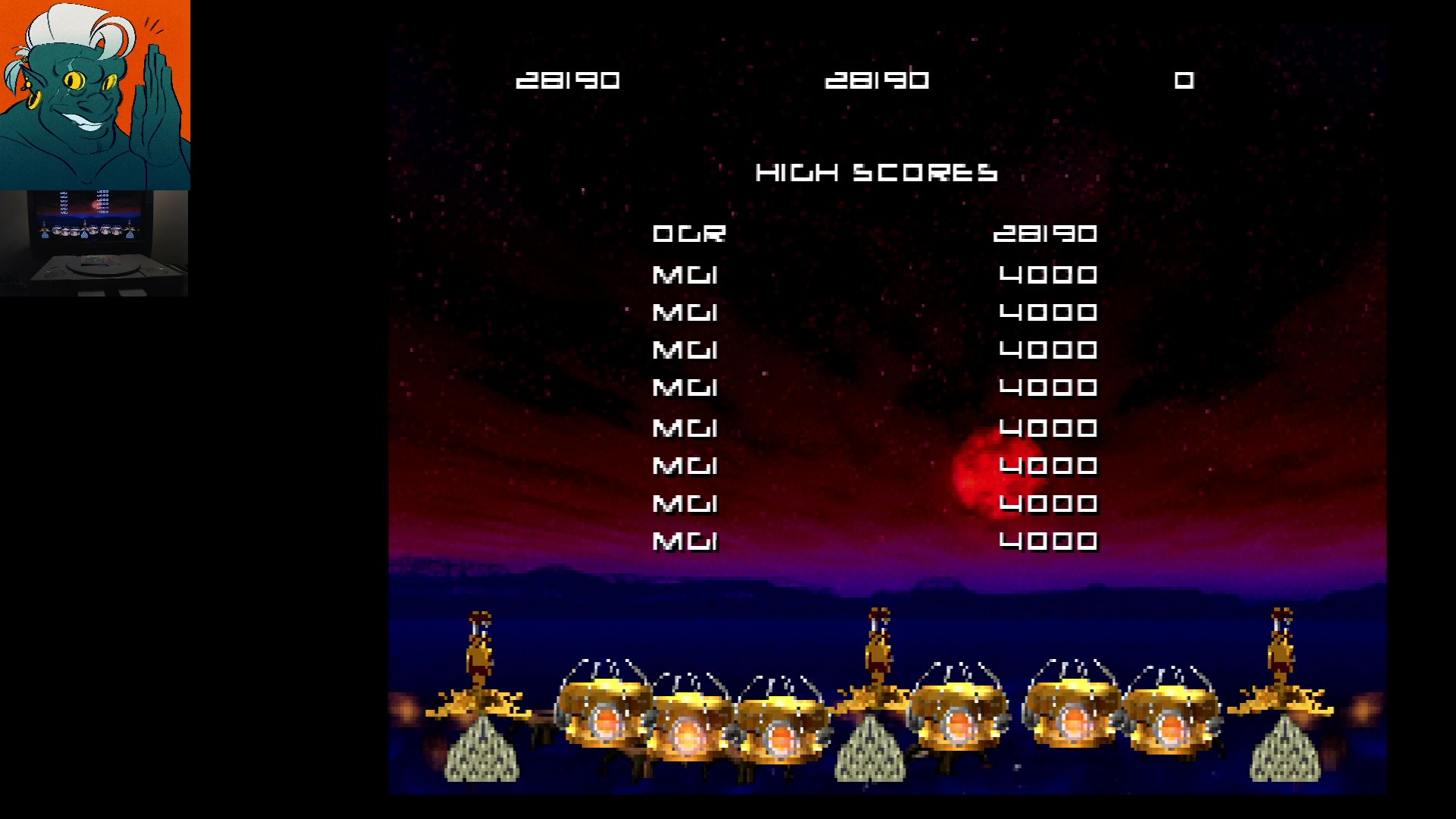 AwesomeOgre: Missile Command: Classic [Level 1] (Playstation 1) 28,190 points on 2019-12-04 07:21:17