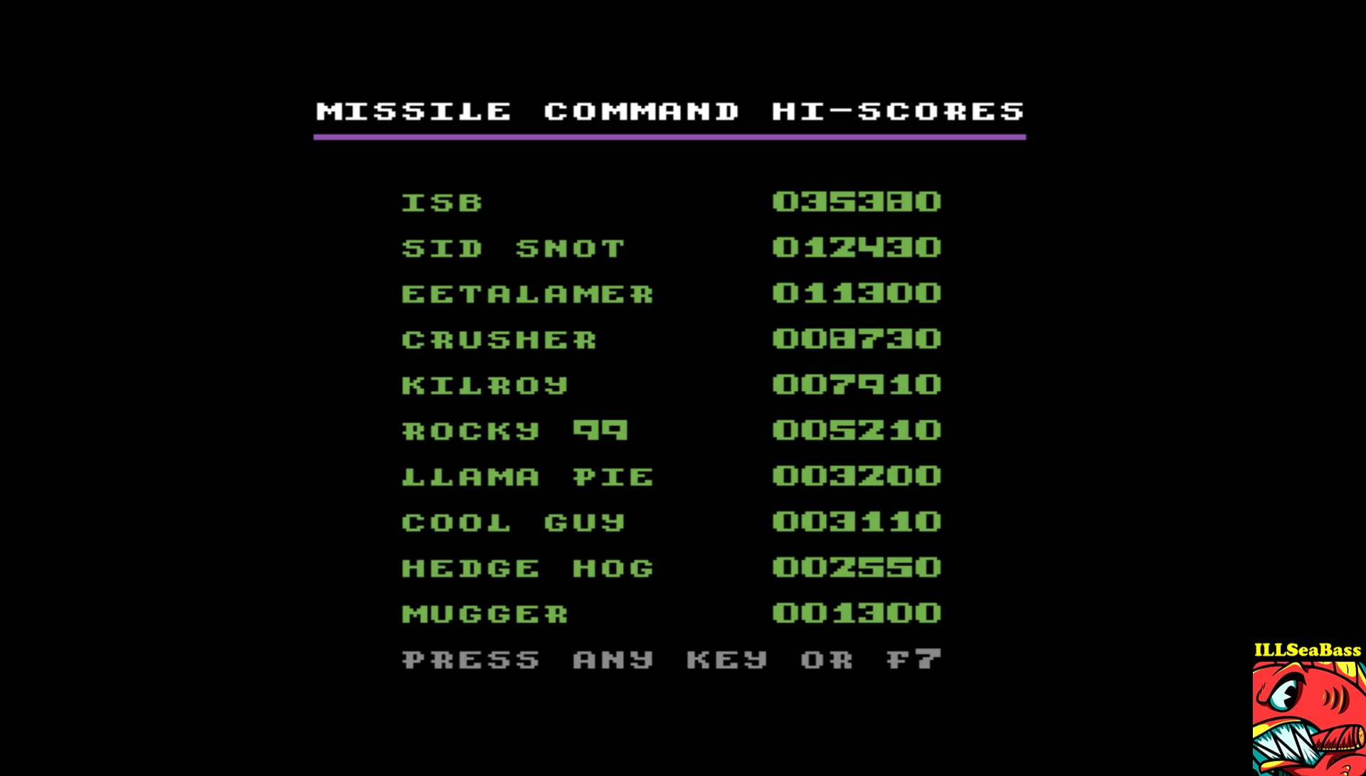 ILLSeaBass: Missile Command (Commodore 64 Emulated) 35,380 points on 2017-04-24 00:05:58