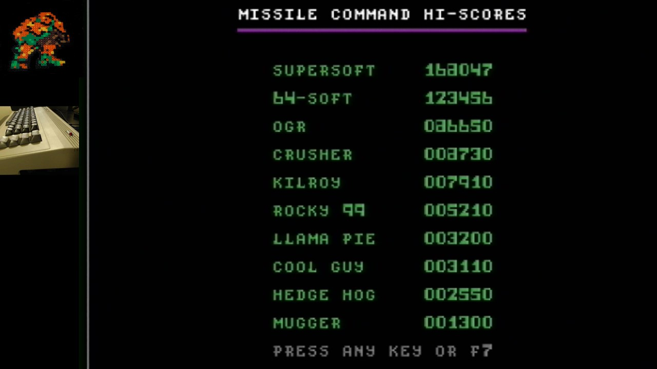 AwesomeOgre: Missile Command (Commodore 64) 86,650 points on 2019-08-18 02:03:55