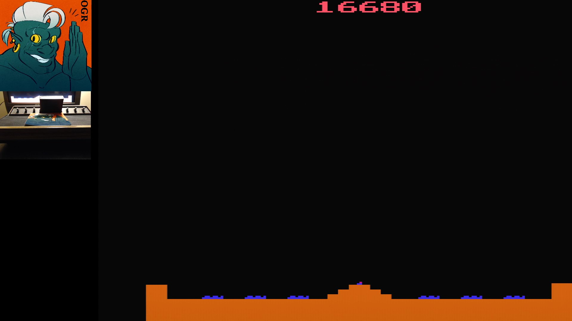 AwesomeOgre: Missile Command: Game 16 (Atari 2600 Expert/A) 16,680 points on 2020-01-10 20:08:03