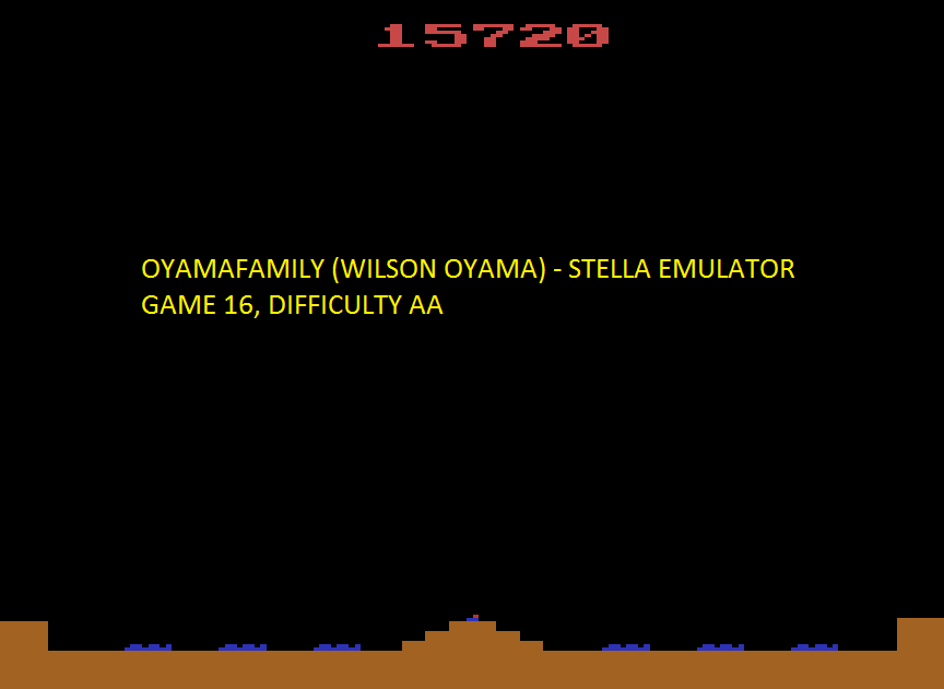 oyamafamily: Missile Command: Game 16 (Atari 2600 Emulated Expert/A Mode) 15,720 points on 2016-06-18 19:40:03