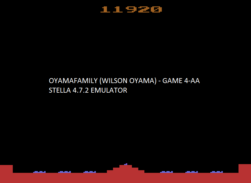 oyamafamily: Missile Command: Game 4 (Atari 2600 Emulated Expert/A Mode) 11,920 points on 2017-01-24 17:47:10