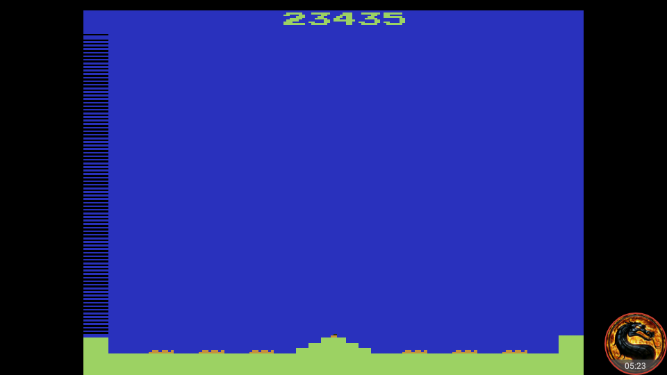 omargeddon: Missile Command: Game 4 (Atari 2600 Emulated Expert/A Mode) 23,435 points on 2018-09-01 18:02:27