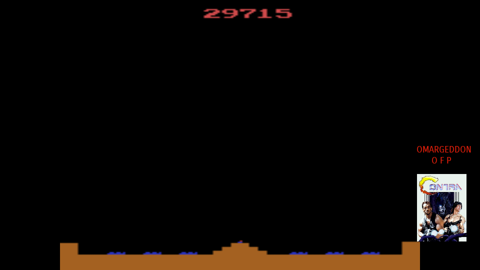 omargeddon: Missile Command: Game 4 (Atari 2600 Emulated Novice/B Mode) 29,715 points on 2017-09-26 21:10:35