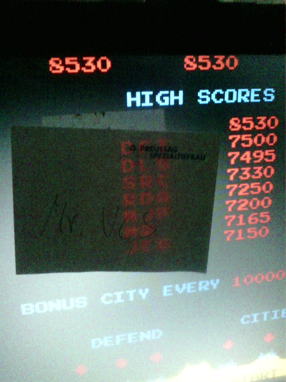 Missile Command [missile] 8,530 points