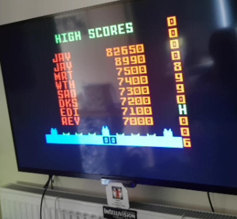 Bamse: Missile Domination [Hard] (Intellivision) 8,990 points on 2019-05-15 09:46:05