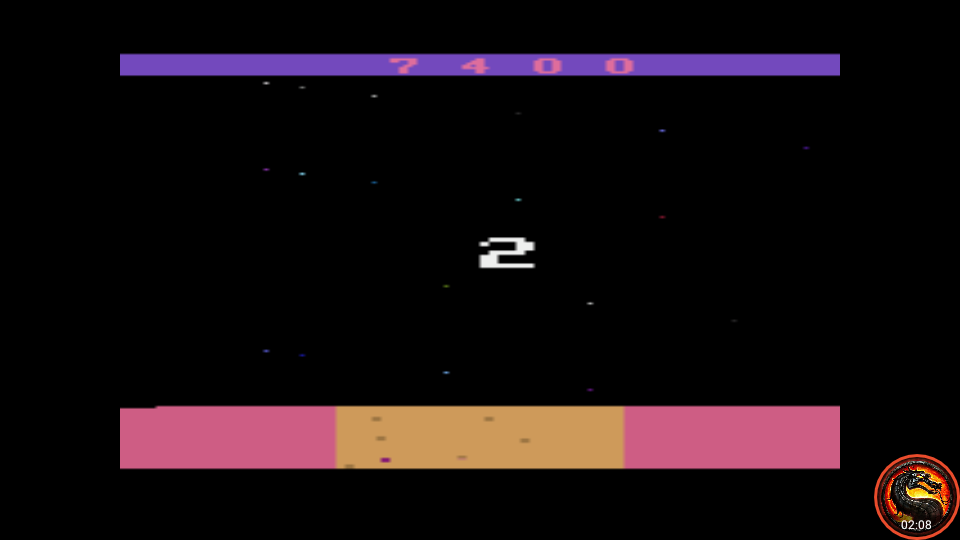 omargeddon: Mission 3000 A.D. (Atari 2600 Emulated Expert/A Mode) 7,400 points on 2020-05-31 00:45:42