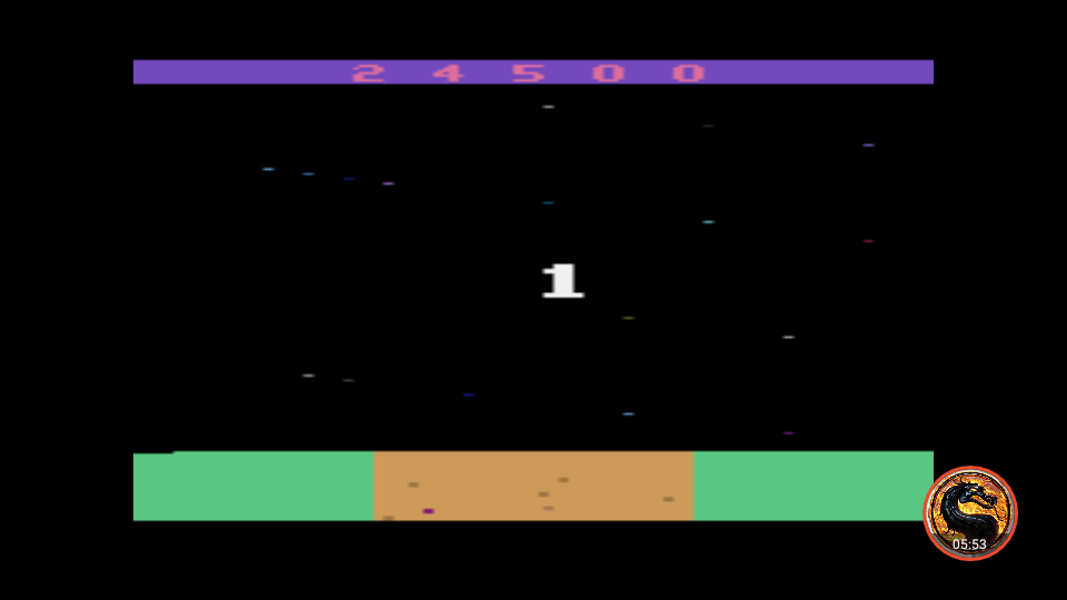 omargeddon: Mission 3000 A.D. (Atari 2600 Emulated Novice/B Mode) 24,500 points on 2019-06-06 09:19:25